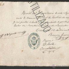 Documentos antiguos: DOCUMENTO AYUNTAMIENTO CONSTITUCIONAL DE CORNELLA - AÑO 1871 - MED 15 X 21 CM- VER REVERSO- (V-4570). Lote 54742509