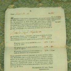 Documentos antiguos: DO-050. 3 SOLICITUDES LIQUIDACIÓN DE TASAS CATASTRALES. ANTONIO SEGUÍ. BARCELONA. 1804. Lote 51927488