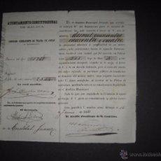 Documentos antiguos: MALAGA - AYUNTAMIENTO CONSTITUCIONAL AÑO 1883- TRAIDA DE AGUAS - VER FOTOS (V-4600). Lote 54807064