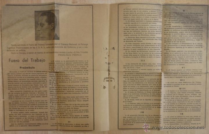 Documentos antiguos: FUERO DEL TRABAJO 1938 ESTADO NACIONALSINDICALISTA - Foto 2 - 54878467