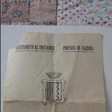 Documentos antiguos: ANTIGUO PROGRAMA OFICIAL.INAUGURACION OBRAS MUNICIPALES.AYUNTAMIENTO FONTANARES.VALENCIA.1968. Lote 54956970