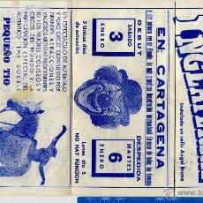 Documentos antiguos: CARTAGENA CIRCO , PRECIOSO CARTEL CIRCO DE INGLATERRA DICIEMBRE 1975 . Lote 55061776