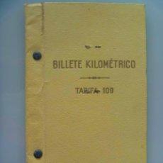 Documentos antiguos: BILLETE KILOMETRICO DE RENFE , 1944 . CON FOTO Y VIÑETAS. Lote 55064139