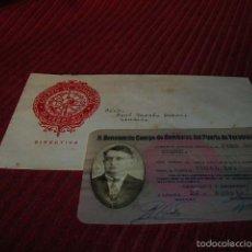 Documentos antiguos: SOBRE Y CARNET DE H. BENEMÉRITO CUERPO DE BOMBEROS DEL PUERTO DE VERACRUZ ,MÉJICO . Lote 55691117