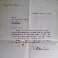 Documentos antiguos: CARTA FIRMA,ENRIQUE TIERNO GALVAN,PROFESOR UNIVERSIDAD,ALCALDE MADRID,MOVIDA MADRILENA. Lote 55792527