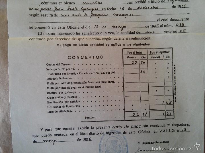valls 1936 impuesto sobre derechos reales comprar
