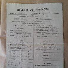 Documentos antiguos: GIRONA - PUIGCERDA - PARDINAS - AÑO 1919 - BOLETIN INSPECCION ESCUELA PUBLICA.. Lote 56041405