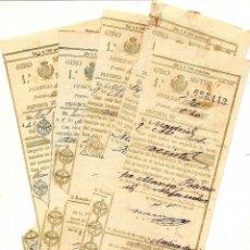 Documentos antiguos: LOTE 5 RESGUARDOS DE GIRO MUTUO A MOLINA DEL SEGURA (MURCIA) DESDE VARIAS POBLACIONES. Lote 56089988
