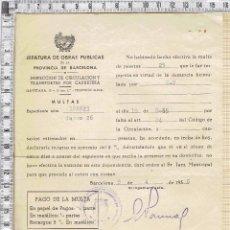 Documentos antiguos: MULTA O SANCION EJECUTADA CON RECARGO-1956.. Lote 56241128