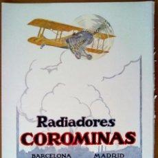 Documentos antiguos: RADIADORES COROMINAS BARCELONA MADRID FABRICA PALACIO DE L'ARDIACA. PUBLICIDAD. Lote 56542733