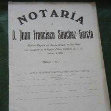 Documentos antiguos: DOCUMENTO NOTARIAL PODER NOTARIA JUAN FRANCISCO SANCHEZ GARCIA, BARCELONA 1922. Lote 56637644