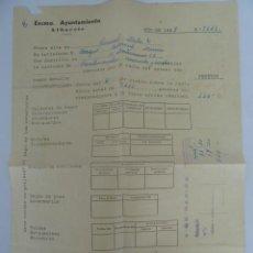 Documentos antiguos: ALBACETE PAGO DE SERVICIOS AYUNTAMIENTO DE ALBACETE AÑO 1970 . Lote 56704334