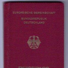 Documentos antiguos: PASAPORTE DE ALEMANIA (MODELO UNION EUROPEA). Lote 56748697