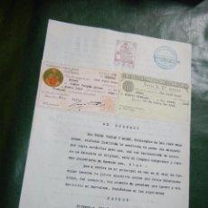 Documentos antiguos: INCOACION DEMANDA - 20 DE JULIO 1936 - SELLOS COLEGIOS PROCURADORES Y ABOGADOS DE BARCELONA. Lote 150734334
