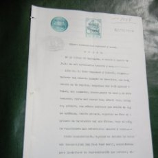 Documentos antiguos: DOCUMENTO NOTARIAL PODER NOTARIA JUAN CAMPASSOL Y CALVELL, BARCELONA 1931. Lote 56836476