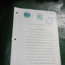 Documentos antiguos: DOCUMENTO NOTARIAL PODER NOTARIA EVANGELINO ORTOLA Y MIRALLES, BARCELONA 1931. Lote 56836517