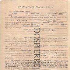 Documentos antiguos: CONTRATO DE COMPRA-VENTA, COCHE RENAULT, OVIEDO, 1961. Lote 56853209