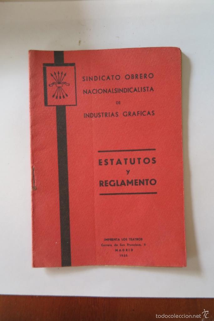 ESTATUTOS Y REGLAMENTO (Coleccionismo - Documentos - Otros documentos)