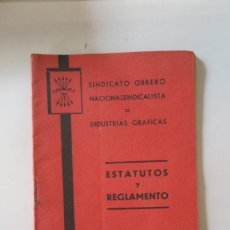 Documentos antiguos: ESTATUTOS Y REGLAMENTO. Lote 56856134