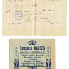Documentos antiguos: PS6711 RECETA DE LA FARMACIA CALDÉS. BARCELONA. 1922. Lote 56917238