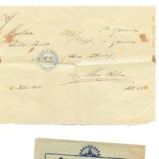 Documentos antiguos: PS6712 RECETA DE LA FARMACIA CALDÉS. BARCELONA. 1922. Lote 56917426
