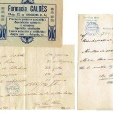 Documentos antiguos: PS6713 RECETA DE LA FARMACIA CALDÉS. BARCELONA. 1922. Lote 56917485