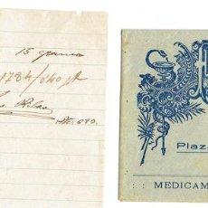 Documentos antiguos: PS6715 RECETA DE LA FARMACIA JOSÉ A. BUJÓNS. MARTORELL. 1922. Lote 56917630
