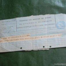 Documentos antiguos: TELEGRAMA BARCELONA 1935. Lote 56834332