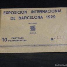 Documentos antiguos: SOBRE EXPOSICIÓN INTERNACIONAL DE BARCELONA 1929 10 POSTALES Nº 111 10X15CMS. Lote 57011223