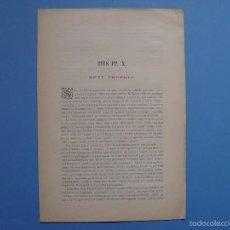 Documentos antiguos: MOTU PROPRIO PIO X (1904) MADRID, IMPRENTA SAN FRANCISCO DE SALES ¡EJEMPLAR HISTÓRICO! COLECCIONISTA. Lote 57026156