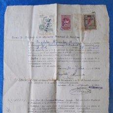 Documentos antiguos: CERIFICACIÓN. DIPUTACIÓN PROVINCIAL DE BARCELONA, 1944. Lote 57083858