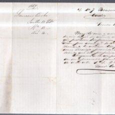 Documentos antiguos: CARTA COMERCIAL. SEVILLA. 1867. LAUREANO CONCHA. BENSUSAN, CADIZ.. Lote 57173426