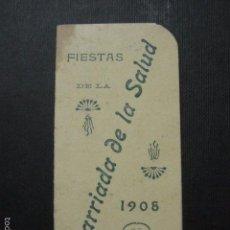 Documentos antiguos: BARCELONA - LA SALUD - 1908 -CARNET BAILE - VER FOTOS- (V- 5873). Lote 57189874