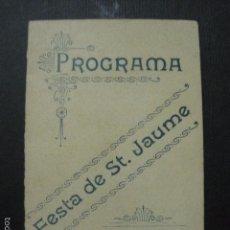 Documentos antiguos: PREMIA DE MAR - FESTA DE SANT JAUME - 1902- CARNET BAILE - VER FOTOS- (V- 5882). Lote 57190840