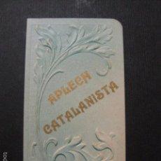Documentos antiguos: APLECH CATALANISTA - CARNET - VER FOTOS- (V- 5884). Lote 57190976