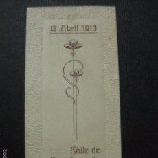 Documentos antiguos: BARCELONA - BAILE DE BENEFICENCIA - CARNET - VER FOTOS- (V- 5885). Lote 57191039