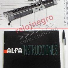Documentos antiguos: ALFA MODELO 360 - MANUAL DE INSTRUCCIONES - MÁQUINA DE TEJER - ¿DE COSER ? - GUÍA DE USO - ILUSTRADO. Lote 57202056