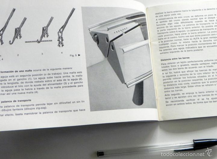 Documentos antiguos: ALFA MODELO 360 - MANUAL DE INSTRUCCIONES - MÁQUINA DE TEJER - ¿DE COSER ? - GUÍA DE USO - ILUSTRADO - Foto 7 - 57202056