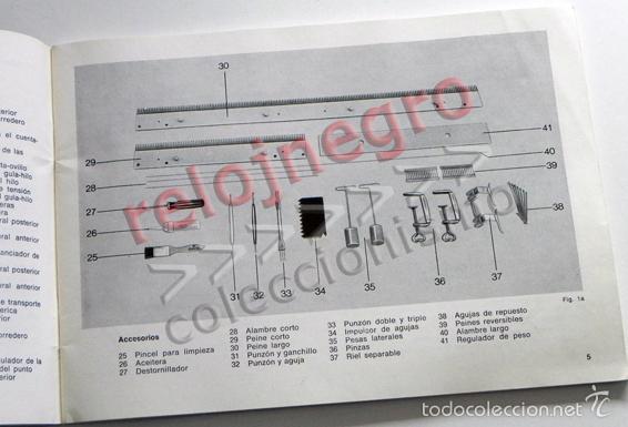 Documentos antiguos: ALFA MODELO 360 - MANUAL DE INSTRUCCIONES - MÁQUINA DE TEJER - ¿DE COSER ? - GUÍA DE USO - ILUSTRADO - Foto 8 - 57202056