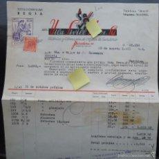 Documentos antiguos: FACTURA VILA SIVILL BARCELONA CATALUÑA PLUMA ESTILOGRAFICA OBJETOS ESCRITORIO OFICINA SECRETARIA. Lote 57296668