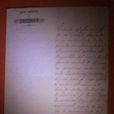 Documentos antiguos: AYUNTAMIENTO DE MADRID - 19 DE MAYO DE 1849 - FIRMADO POR EL ALCALDE D. MANUEL DE BARBARA. Lote 57315308
