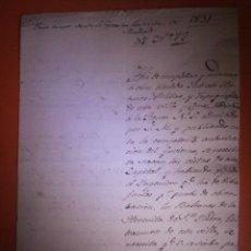Documentos antiguos: AÑO 1831 - DOCUMENTO DEL ESCRITOR BASILIO SEBASTIAN CASTELLANOS - A SACRAMENTAL DE S. ANDRÉS. Lote 57315366