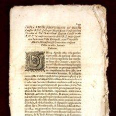 Documentos antiguos: DO-067. PROVISIÓN REAL DICTADA EN EL CONFLICTO ENTRE LA VILLA DE RIPOLL Y EL ABAD. XVII.. Lote 57056257
