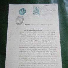 Documentos antiguos: DOCUMENTO NOTARIAL PODER NOTARIA ANTONIO PAR Y TUSQUETS, BARCELONA 1928. Lote 57343594