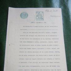 Documentos antiguos: DOCUMENTO NOTARIAL PODER NOTARIA FERNANDO ESCRIVA BLASCO BARCELONA, 1922. Lote 57361482
