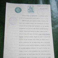 Documentos antiguos: DOCUMENTO NOTARIAL PODER NOTARIA LUIS RUFASTA BANUS, BARCELONA, 1928. Lote 57361705