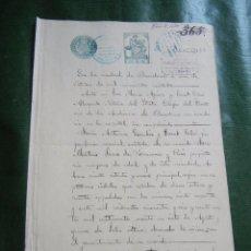 Documentos antiguos: DOCUMENTO NOTARIAL PODER NOTARIA LUIS RUFASTA BANUS, BARCELONA, 1928. Lote 57361765