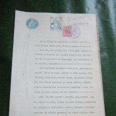 Documentos antiguos: DOCUMENTO NOTARIAL PODER NOTARIA ANTONIO PAR Y TUSQUETS, BARCELONA 1926. Lote 57362072