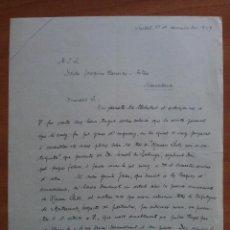 Documentos antiguos: 1959 CARTA DIRIGIDA A JOAQUÍN CARRERAS. Lote 57367181