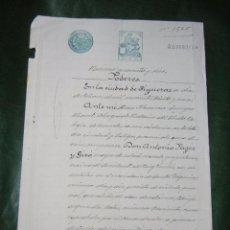 Documentos antiguos: DOCUMENTO NOTARIAL PODER NOTARIA FLORENCIO JUNYER MORET, FIGUERAS 1931. Lote 57395203